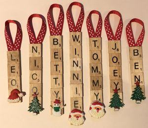 Personalised Scrabble Decoration